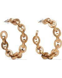 Saint Laurent - Gold-tone Hoop Earrings - Lyst