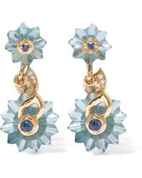 Alice Cicolini - 9-karat Gold Multi-stone Earrings - Lyst