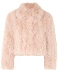 ADEAM - Cropped Feather Jacket - Lyst