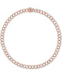 Anita Ko - 18-karat Rose Gold Diamond Choker - Lyst