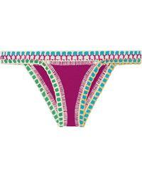 KIINI - Coco Crochet-trimmed Triangle Bikini Briefs - Lyst