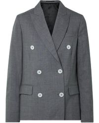 Golden Goose Deluxe Brand - Misam Double-breasted Wool-crepe Blazer - Lyst