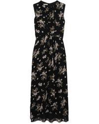 Vince - Asymmetric Floral-print Silk Dress - Lyst