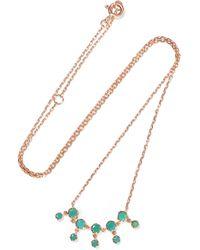 Pascale Monvoisin - Lara N°1 9-karat Rose Gold And Turquoise Necklace - Lyst
