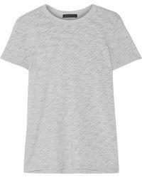 ATM - Schoolboy Slub Supima Cotton-blend Jersey T-shirt - Lyst