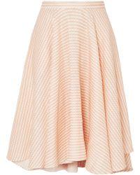 Miguelina - Jackie Asymmetric Gingham Linen Midi Skirt - Lyst
