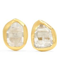Pippa Small - 18-karat Gold Herkimer Diamond Earrings - Lyst
