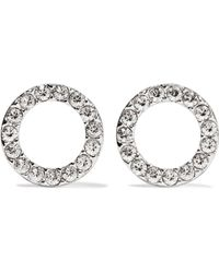 Isabel Marant - Silver-plated Crystal Earrings - Lyst
