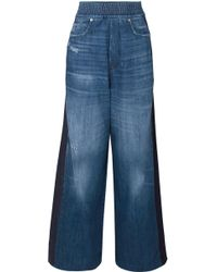 Golden Goose Deluxe Brand - Sophie Paneled High-rise Wide-leg Jeans - Lyst