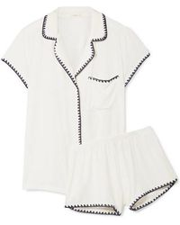 Eberjey - Frida Whipstitched Stretch-modal Jersey Pajama Set - Lyst