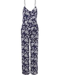 MICHAEL Michael Kors - Tossed Floral-print Georgette Jumpsuit - Lyst