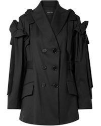 Simone Rocha - Bow Detail Wool Blazer Jacket - Lyst