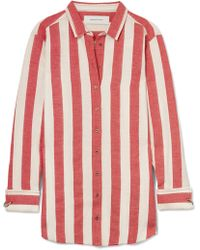 Marques'Almeida - Oversized Striped Linen And Cotton-blend Shirt - Lyst