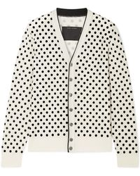 Marc Jacobs - Flocked Wool Cardigan - Lyst