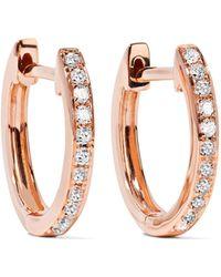 Anita Ko | Huggies 18-karat Rose Gold Diamond Earrings | Lyst