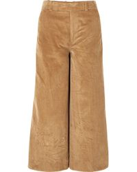 Elizabeth and James - Oakley Cropped Cotton-corduroy Wide-leg Trousers - Lyst