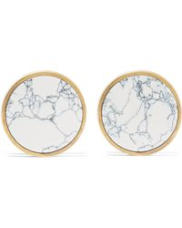 Balenciaga - Gold-tone Stone Earrings - Lyst