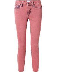 Current/Elliott - The Stiletto Verkürzte Halbhohe Skinny Jeans - Lyst