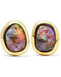 Kimberly Mcdonald - 18-karat Gold Opal Earrings - Lyst
