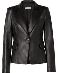 Michael Kors - Leather Blazer - Lyst