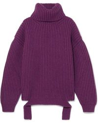 Balenciaga - Ribbed Wool Turtleneck Sweater - Lyst