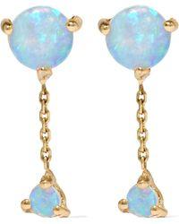 Wwake | Two Step 14-karat Gold Opal Earrings | Lyst