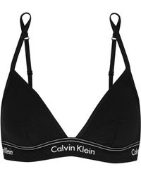 CALVIN KLEIN 205W39NYC - Heritage Athletic Stretch-cotton Jersey Soft-cup Bra - Lyst