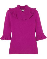 Co. - Ruffled Alpaca-blend Sweater - Lyst