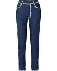 Eckhaus Latta - El Two-tone High-rise Straight-leg Jeans - Lyst