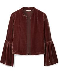 Ulla Johnson - Mara Cropped Velvet Jacket - Lyst
