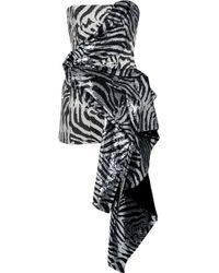 Halpern - Draped Sequined Satin Mini Dress - Lyst