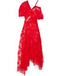 Preen By Thornton Bregazzi - Tessie Lace Midi Dress - Lyst