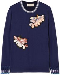 Peter Pilotto - Embellished Wool Sweater - Lyst