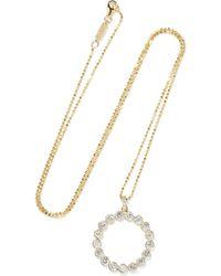 Jennifer Meyer - Open Circle 18-karat Gold Diamond Necklace Gold One Size - Lyst