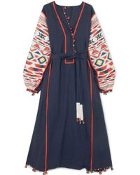 Eres - + Vita Kin Regatta Embroidered Linen Dress - Lyst