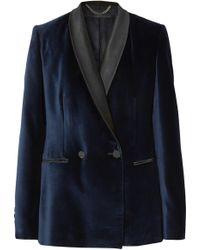 Stella McCartney - Satin-trimmed Velvet Tuxedo Blazer - Lyst