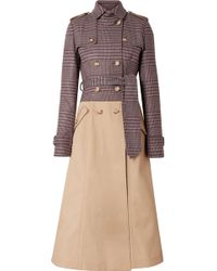 Gabriela Hearst - Armonia Checked Wool-blend And Cotton-gabardine Trench Coat - Lyst