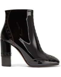 Chloé - Perry Patent-leather Ankle Boots - Lyst