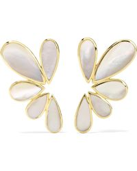 Ippolita - Polished Rock Candy 18-karat Gold Mother-of-pearl Earrings Gold One Size - Lyst