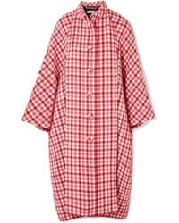 Balenciaga - Cristóbal Oversized Gingham Wool-blend Coat - Lyst