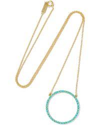 Jennifer Meyer - Open Circle 18-karat Gold Turquoise Necklace - Lyst