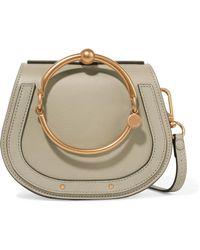 Chloé - Nile Bracelet Small Textured-leather Shoulder Bag - Lyst