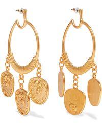 Kenneth Jay Lane - Gold-plated Earrings - Lyst
