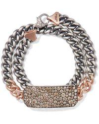 Sylva & Cie - 14-karat Rose Gold, Sterling Silver And Diamond Bracelet - Lyst