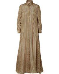 Mes Demoiselles | Breedy's Striped Silk Shirt Dress | Lyst