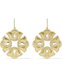 Amrapali - Kaliyana Lotus 18-karat Gold, Topaz And Diamond Earrings - Lyst