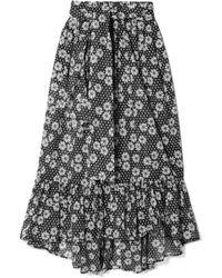 Lisa Marie Fernandez - Nicole Printed Cotton-voile Maxi Skirt - Lyst