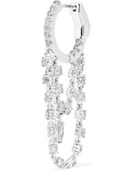 Anita Ko - Sophia Huggies 18-karat White Gold Diamond Earring - Lyst