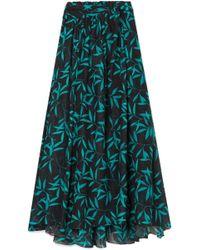 Caroline Constas - Hera Printed Voile Maxi Skirt - Lyst