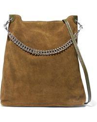 Little Liffner - Liquor Leather-trimmed Suede Shoulder Bag - Lyst